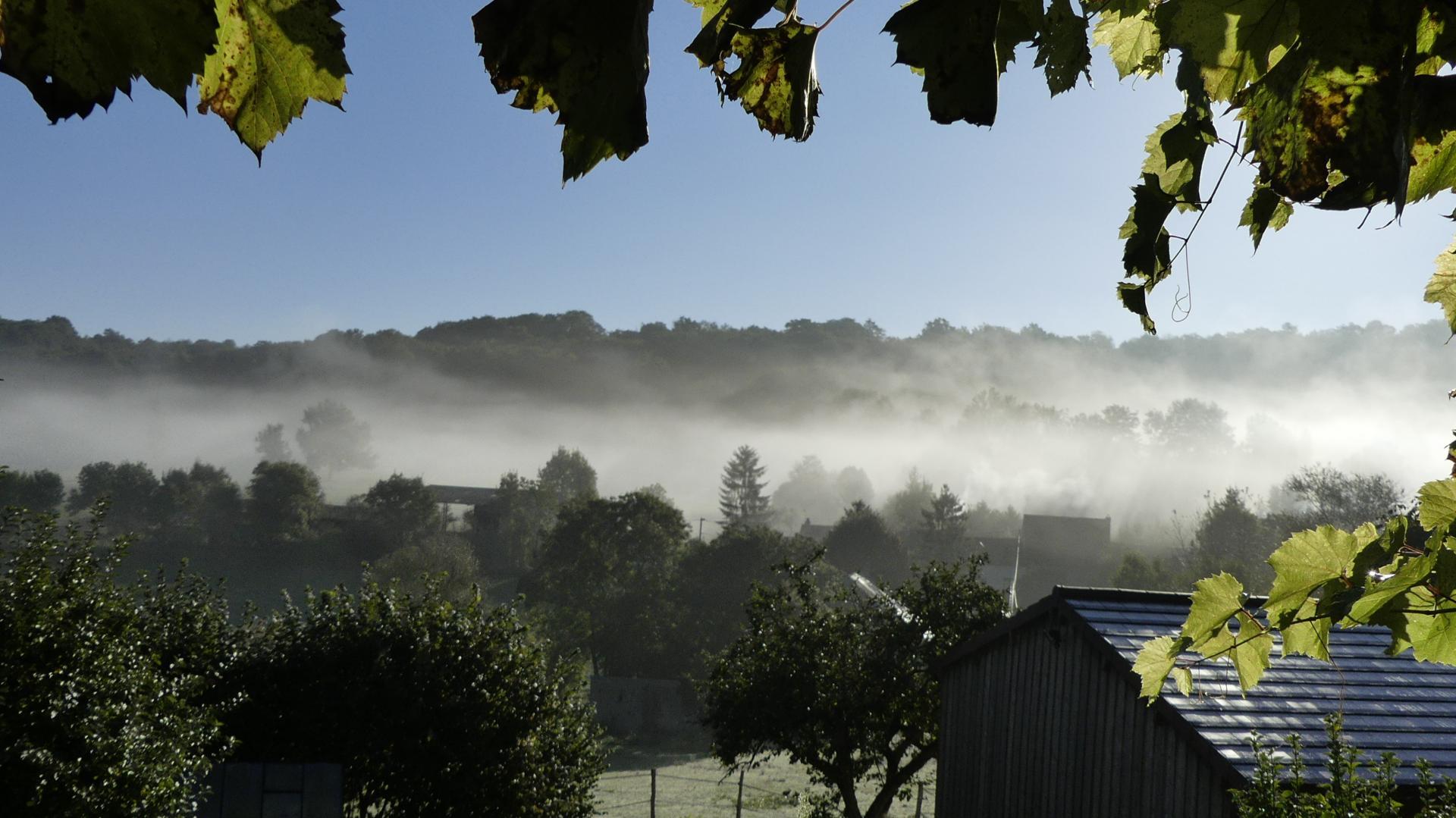 La brume s'invite au village